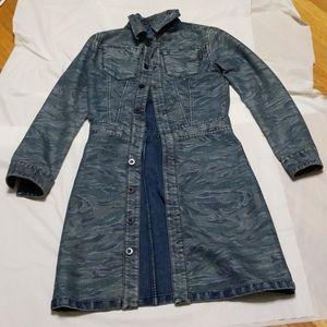 DKNY jean Denim reversible jacket women size SM